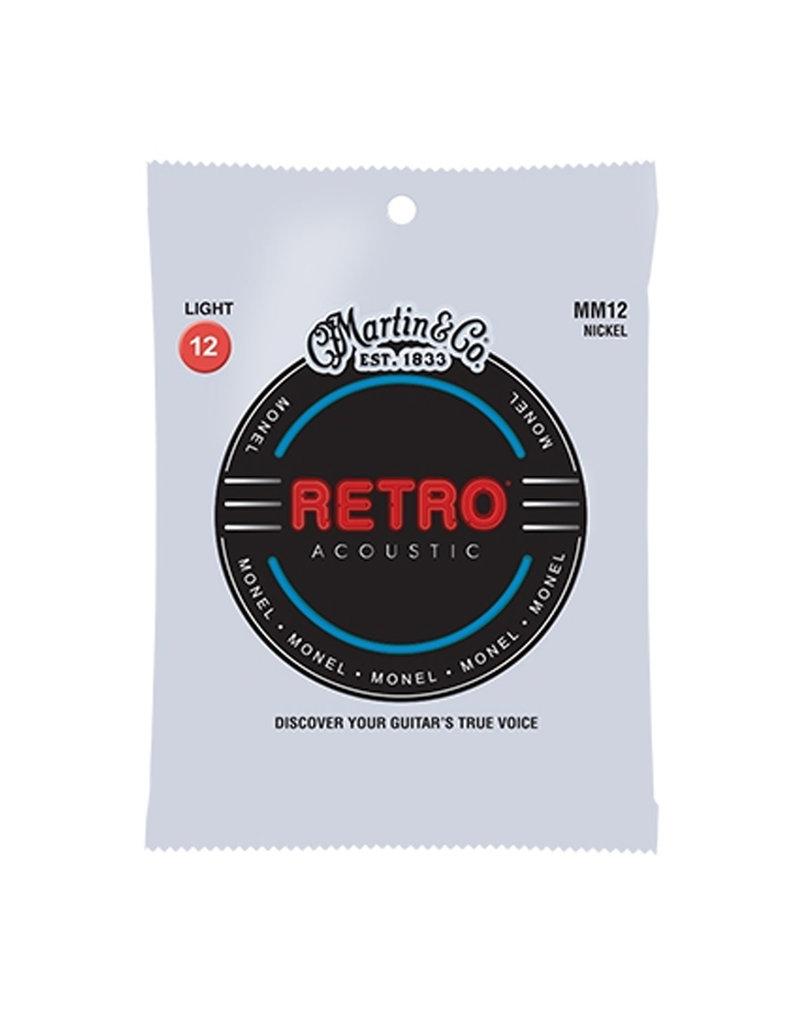 Martin Martin MM12 Retro Acoustic Guitar Strings - .012-.054 Light