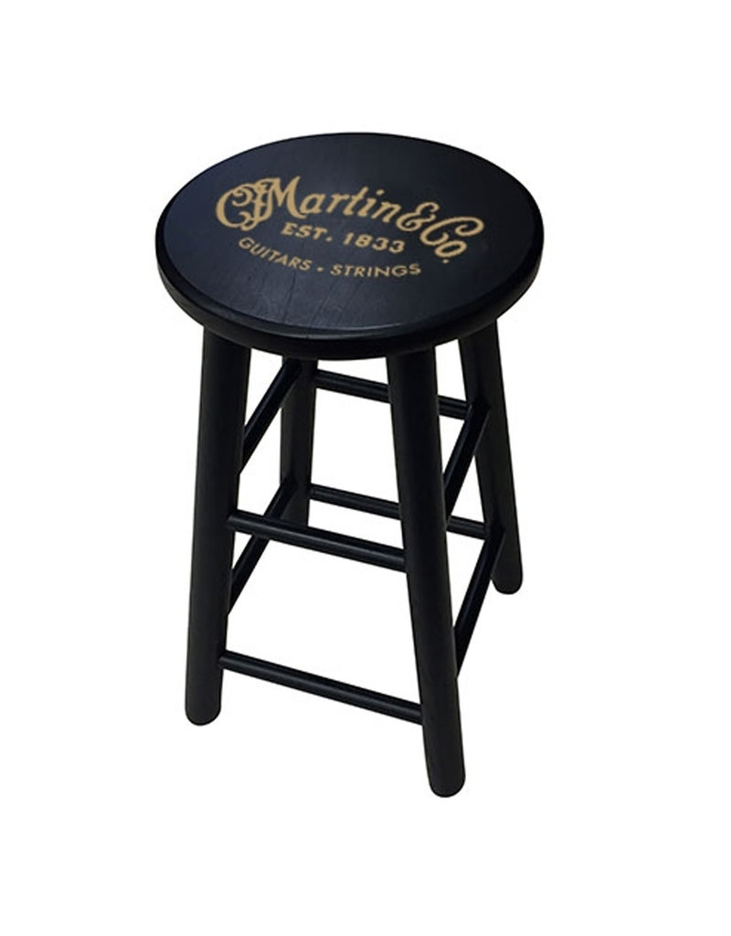 Martin Martin 18N0254 Player Stool With Gold Logo (Black Finish)