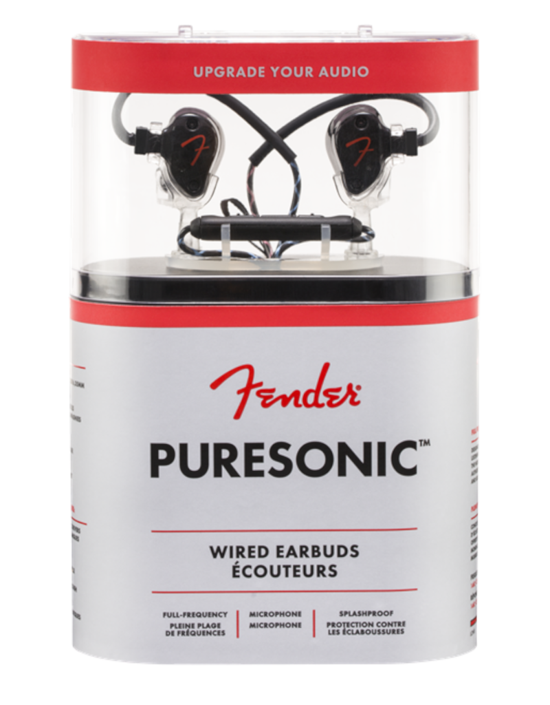 Fender Fender PureSonic™ Wired Headphones, Black Metallic