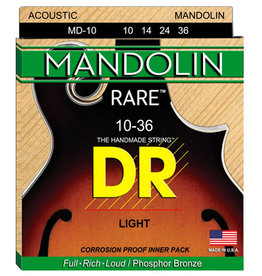 DR Rare Phosphor Bronze Mandolin Strings MD-10 Lite .10-.36