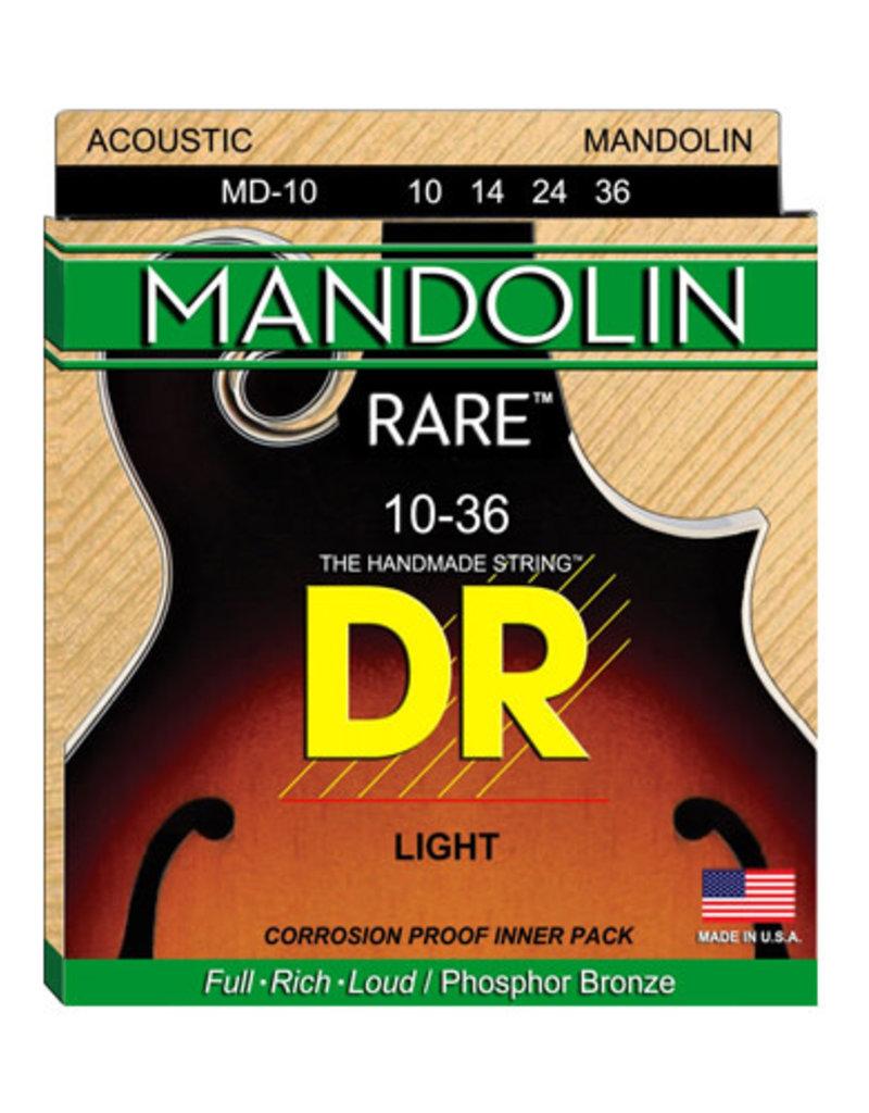 DR Rare Phosphor Bronze Mandolin Strings MD-10 Lite .10-.36