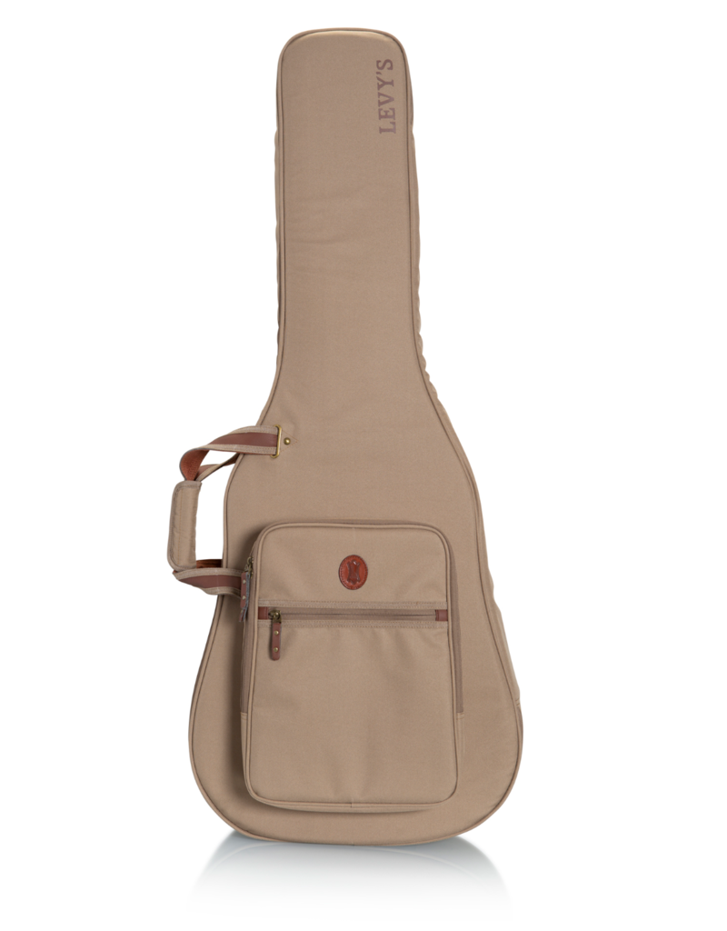 Levy's Leathers Levy's Deluxe Lightweight Gig Bag for Dread Guitars in Tan