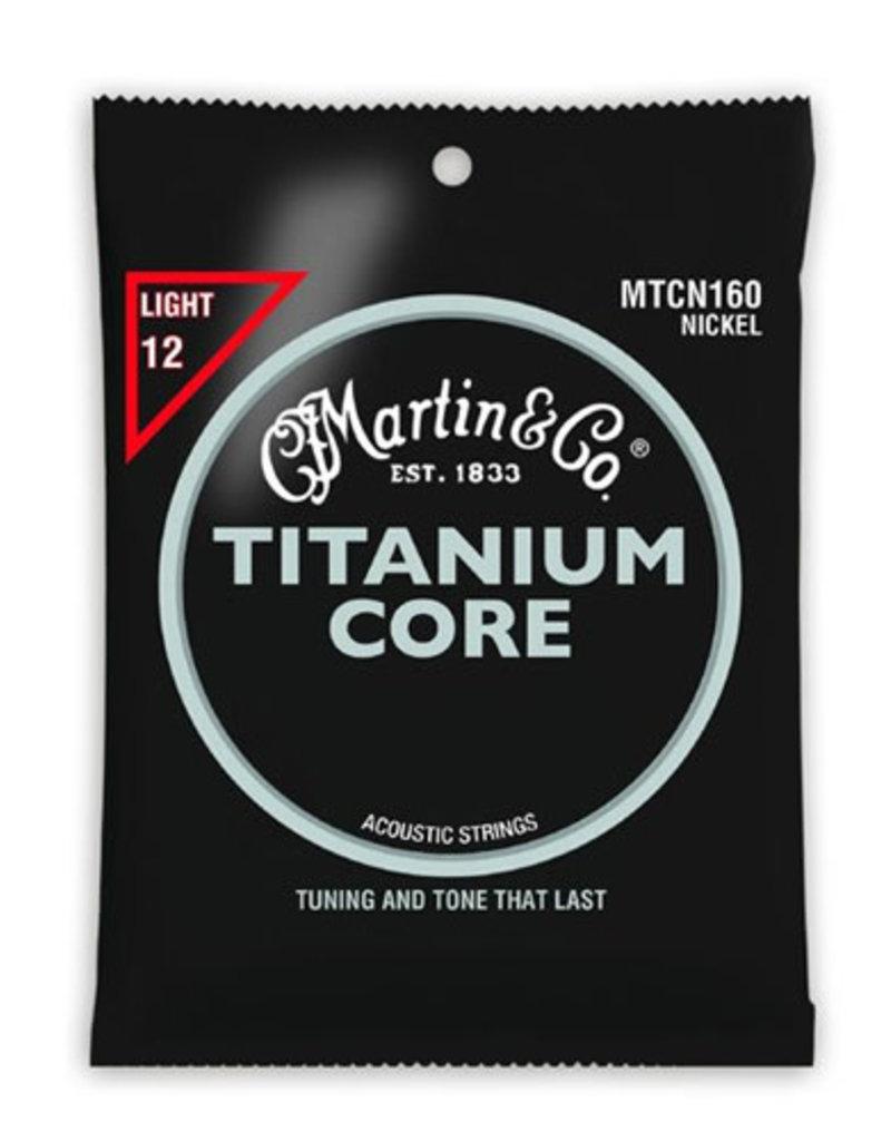 Martin Martin MTCN160 Titanium Core Acoustic Guitar Strings Light .12-.55