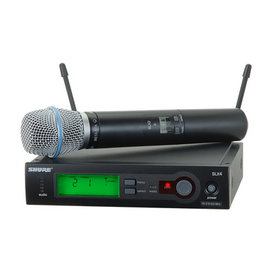 Shure Shure SLX24/BETA87A Handheld Wireless Microphone System - H19 Band