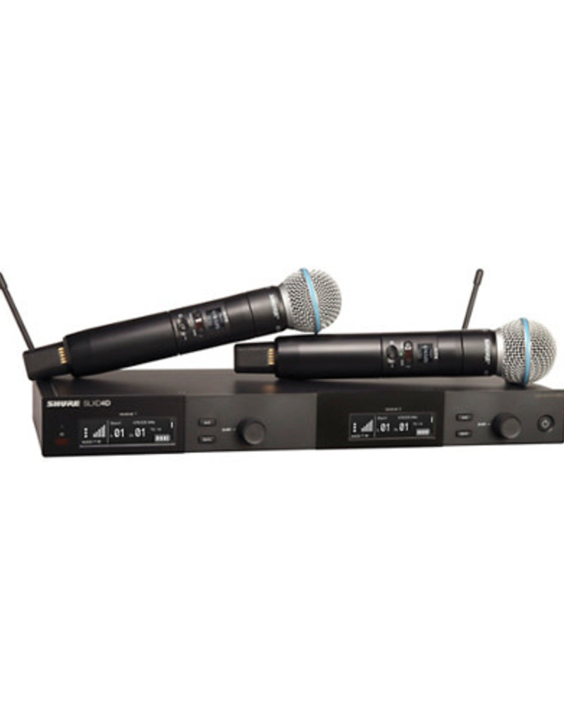 Shure Shure SLXD24D/B58 Dual Wireless Vocal Microphone System with BETA 58  Band H55