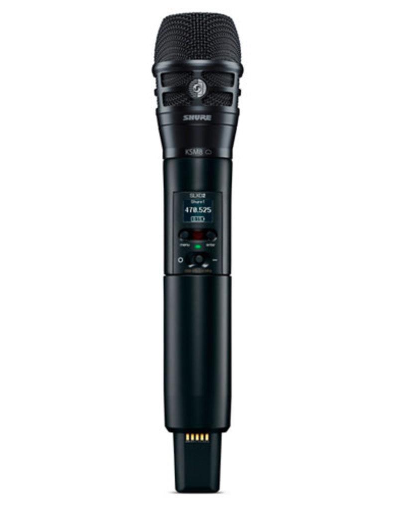 Shure Shure SLXD2/K8B Handheld Transmitter with KSM8 Capsule  Band H55