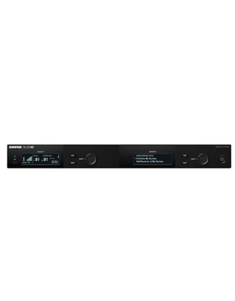 Shure Shure SLXD4D Dual-Channel Digital Wireless Receiver  Band H55
