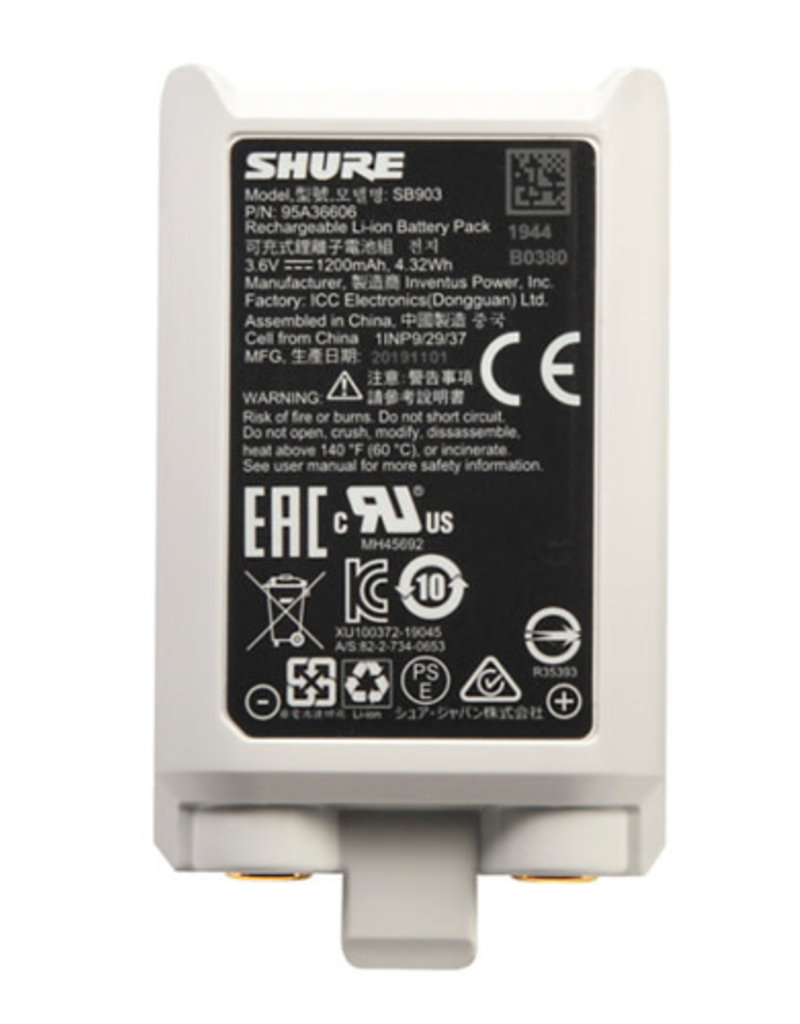 Shure Shure SB903 Lithium-Ion Battery for SLX-D