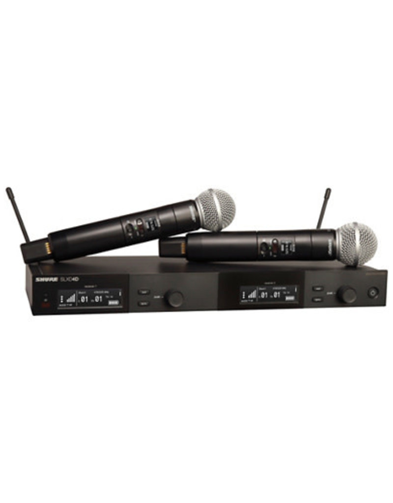Shure Shure SLXD24D/SM58 Dual Wireless Vocal Microphone System with SM58  Band J52