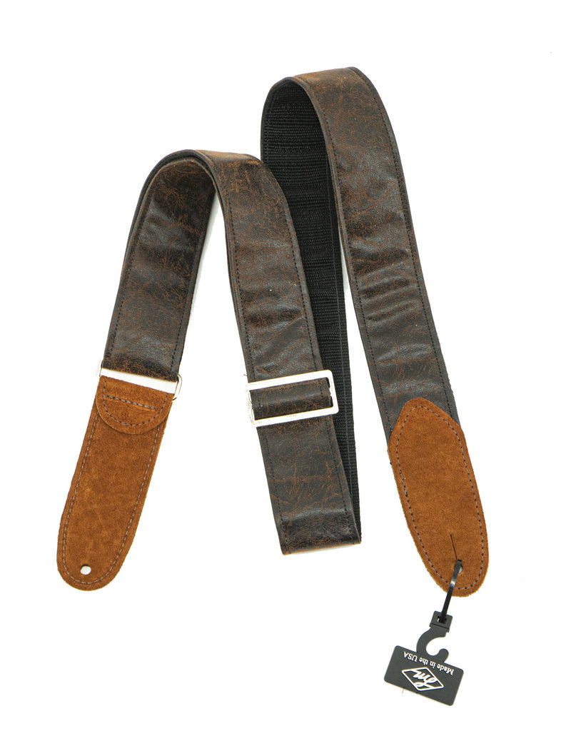 """LM Products PS-W BR 2"""" Distressed Leather Strap, Brown"""