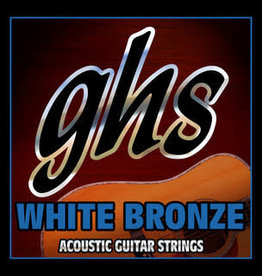 GHS Acoustic Guitar Strings White Bronze Medium .013-.056