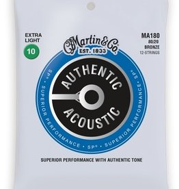 Martin Martin MA180 Authentic Acoustic; Bronze, Extra Light 12 String, .010