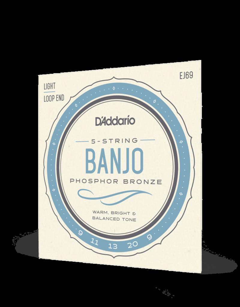 D'Addario D'Addario EJ69 light gauge 5-string banjo