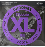 D'Addario D'Addario ECG24 Chromes Flatwound Electric Strings -.011-.050 Jazz Light