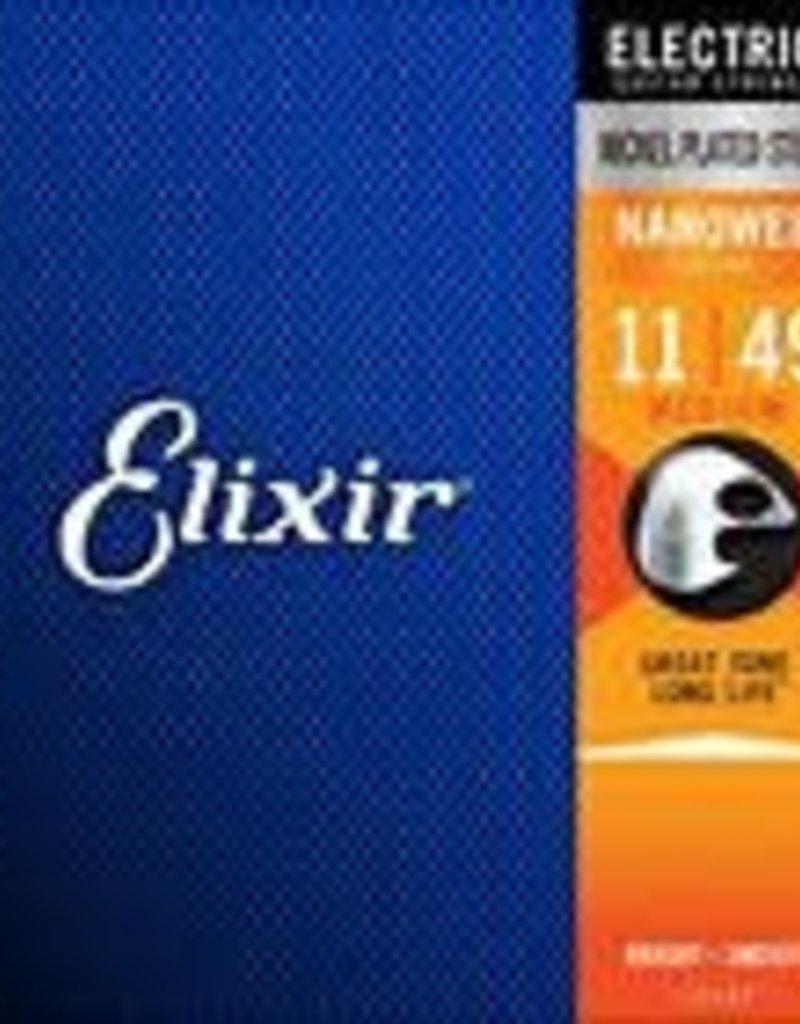 Elixir Elixir Strings 12102 Nanoweb Electric Guitar Strings -.011-.049 Medium