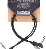 RockBoard RockBoard Flat Patch Y Splitter Cable, 30cm