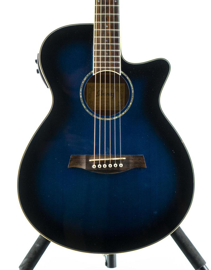 Used Ibanez AEG10II Acoustic Electric Guitar Blue Burst