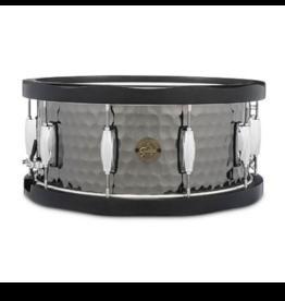Gretsch Gretsch 6.5X14 Hammered Black Steel Wood Hoop Snare Drum