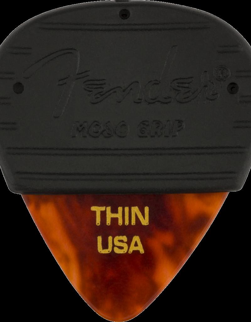 Fender Fender Mojo Grip Picks, Celluloid, Thin, 3-Pack, Tortoiseshell