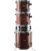 Used Yamaha Cranberry Red 5 Piece Drum Kit