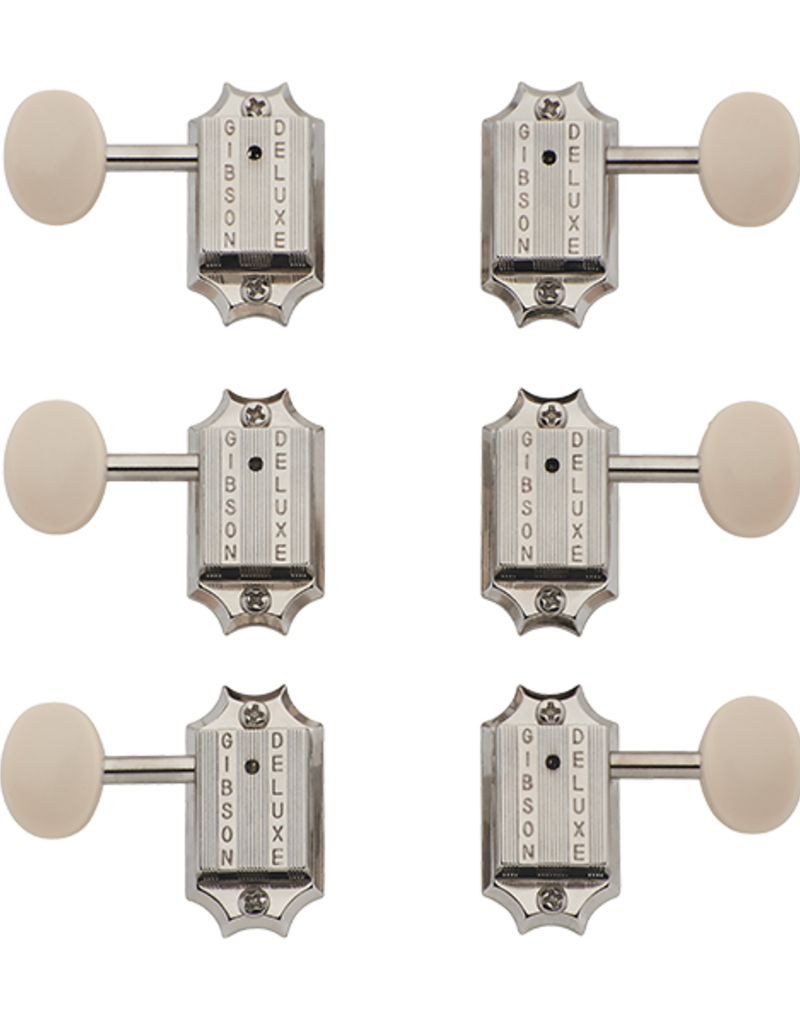 Gibson PMMH-060 Kidney Tuner Set, White
