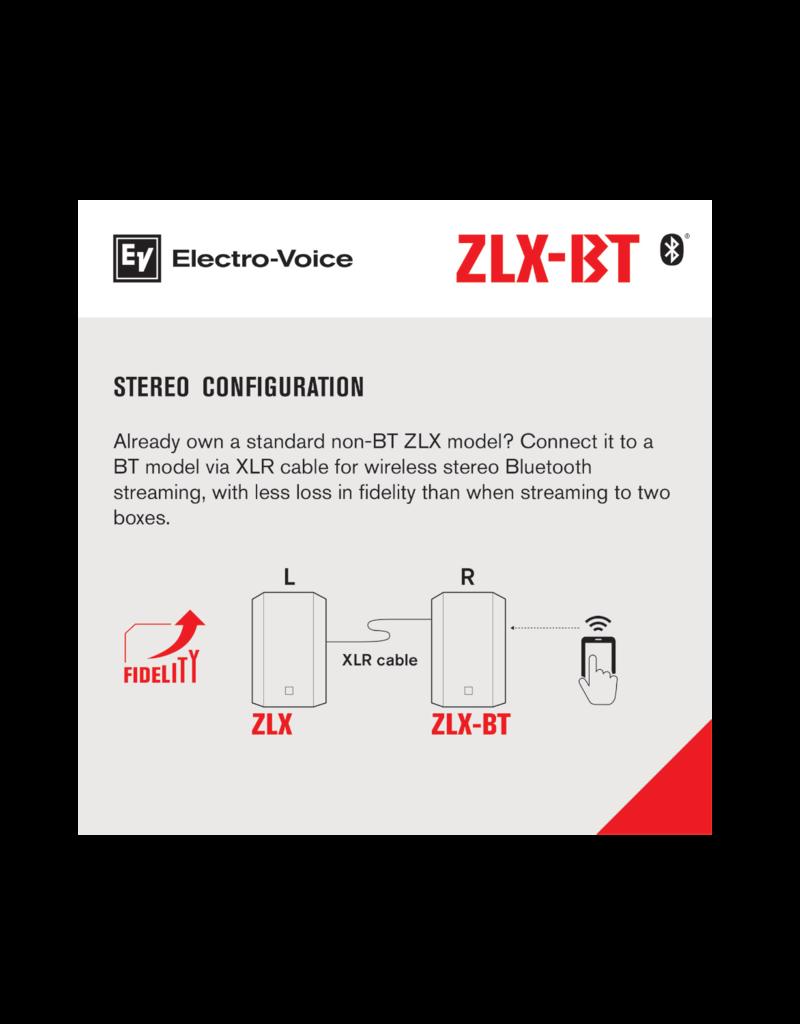 "EV ZLX-12BT 12"" powered loudspeaker with bluetooth audio"