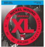 D'Addario D'addario EXL230 Electric Bass XL Nickel Wound, .055 - .110 Bass Strings