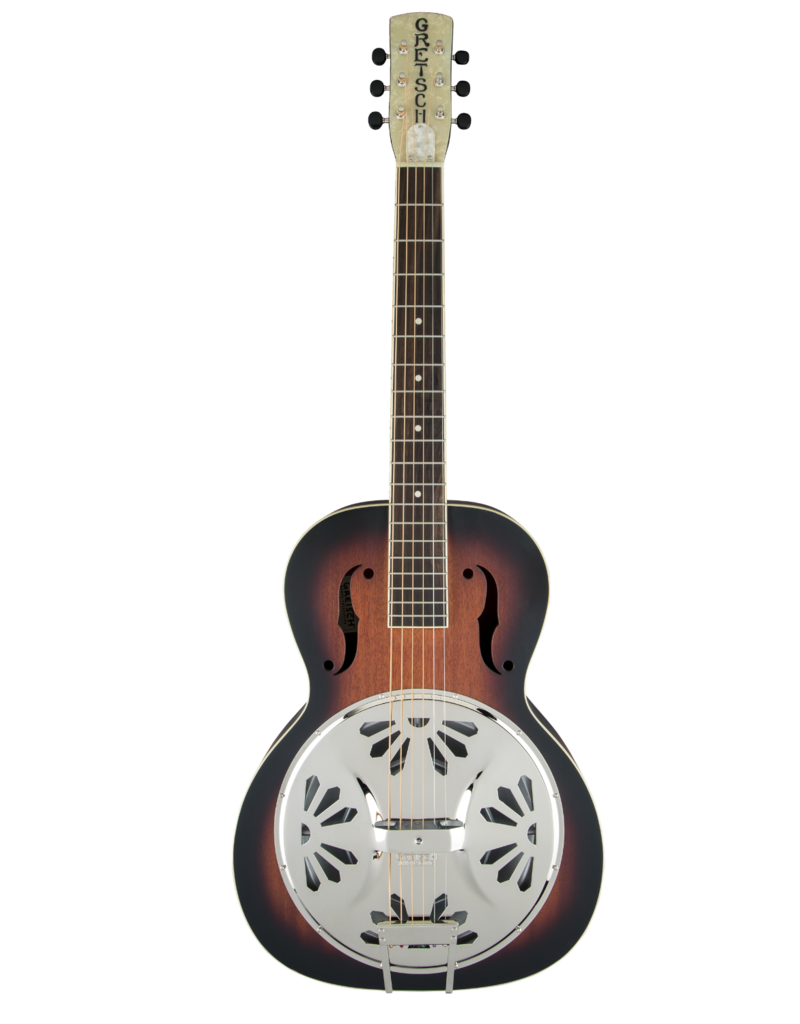 Gretsch Gretsch G9220 Bobtail™ Round-Neck A.E., Mahogany Body Spider Cone Resonator Guitar, Fishman® Nashville Resonator Pickup, 2-Color Sunburst