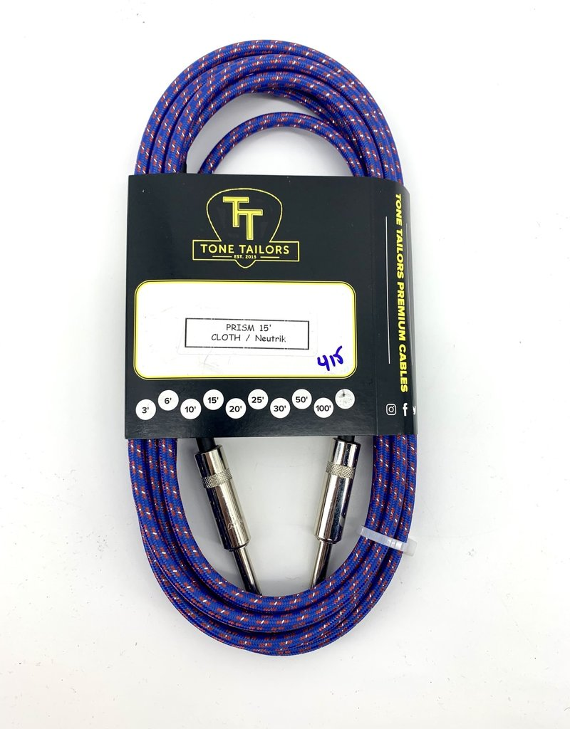 Tone Tailors Prism Cloth Instrument Cable 15ft 415