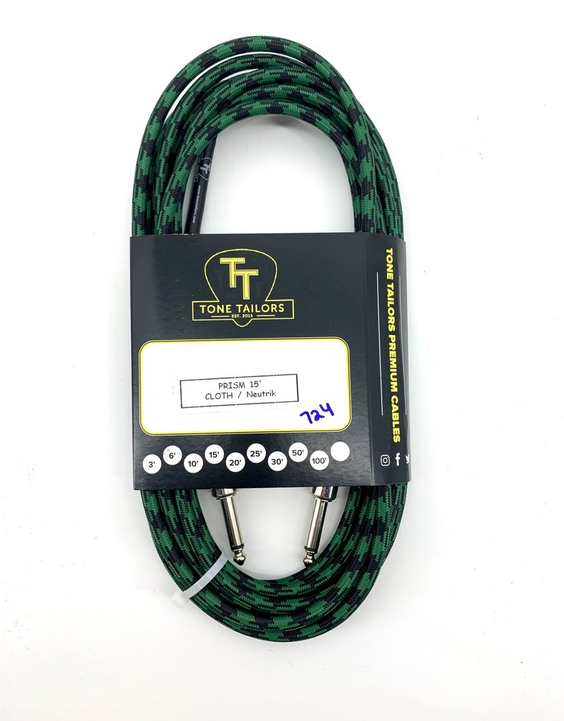 Tone Tailors Prism Cloth Instrument Cable 15ft 724