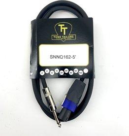 """Tone Tailors SNNQ-162-5 Premium Speaker Cable Speakon to 1/4"""" 5 ft"""