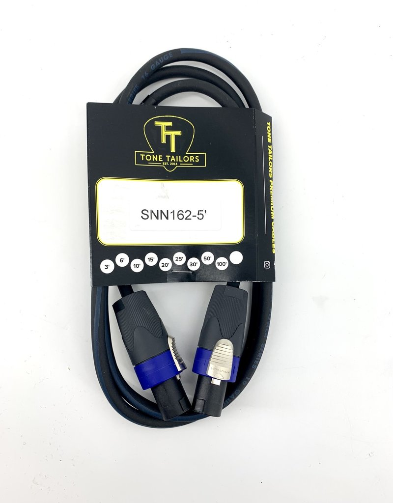 Tone Tailors SNN162-5 Premuim Speaker Cable Speakon 5 ft