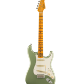 Fender Custom Shop Fender Custom Shop Postmodern Stratocaster® Journeyman Relic® with Closet Classic Hardware, Maple Fingerboard, Faded Aged Sage Green Metallic