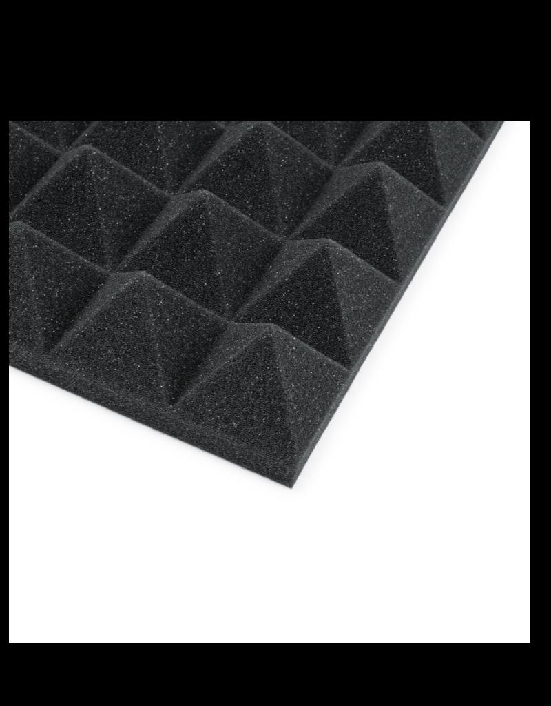 "Gator Gator GFWACPNL1212PCHA8PK 12x12"" Acoustic Pyramid Panels - 8 Pack; Charcoal"