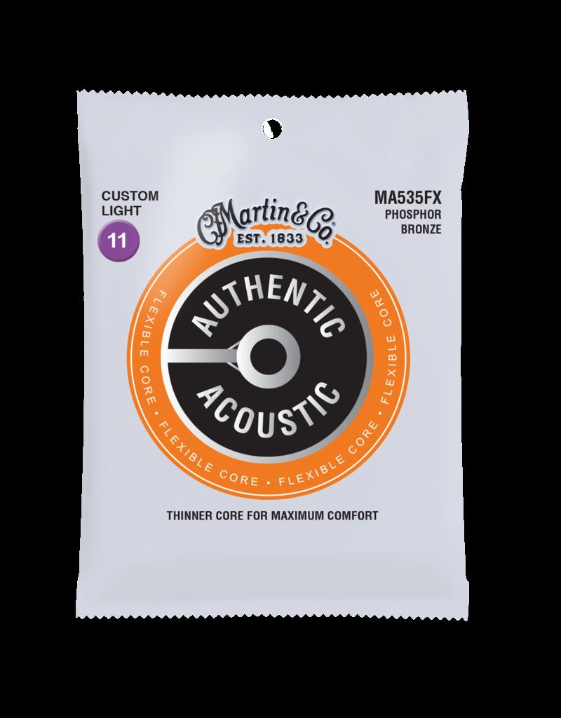 Martin Martin Authentic Acoustic Flexible Core, Phosphor Bronze; Custom Light
