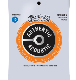 Martin Martin MA550FX Flexible Core Phosphor Bronze Acoustic Guitar Strings .013-.056
