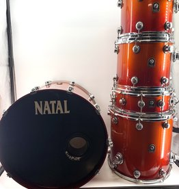 Natal Used Natal Birch Series 5 Piece Drum Kit w/Hardware and Cases