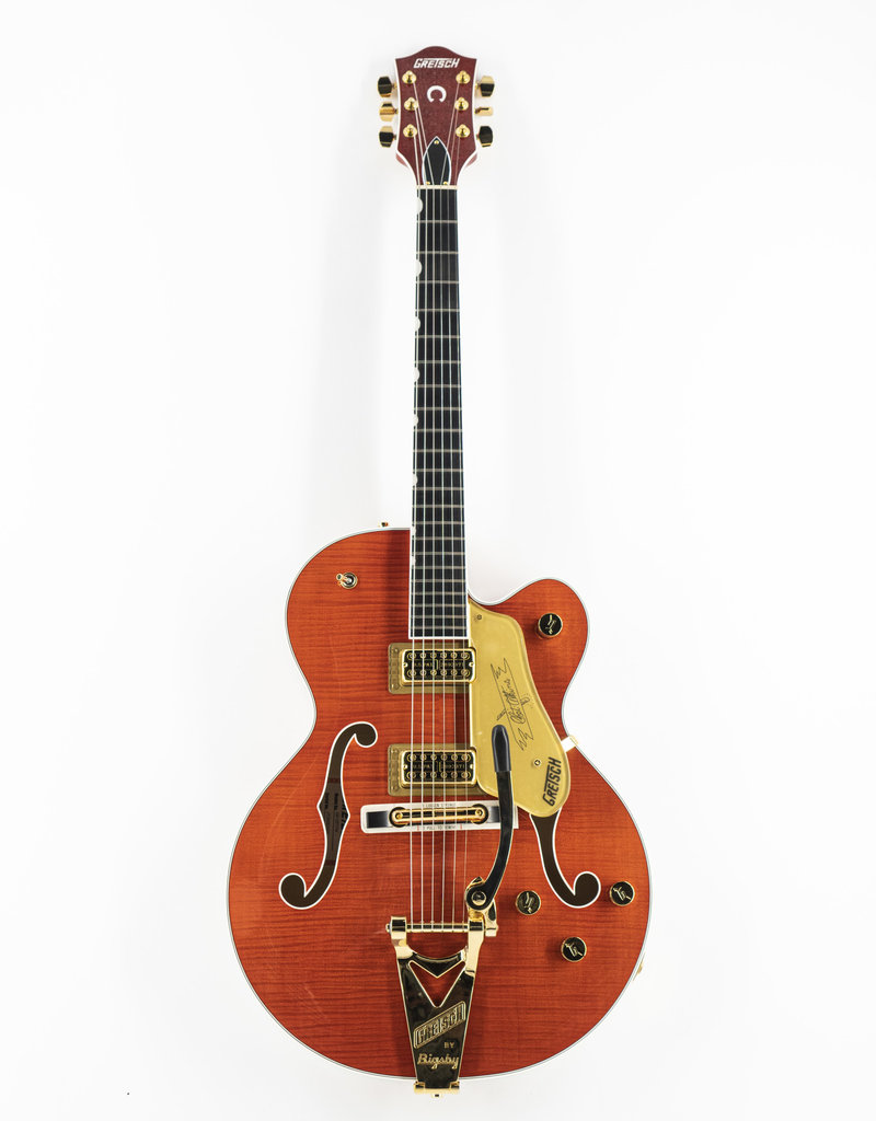 Gretsch Used Gretsch G6120TFM Players Edition Nashville® with String-Thru Bigsby®, Filter'Tron™ Pickups, Flame Maple, Orange Stain