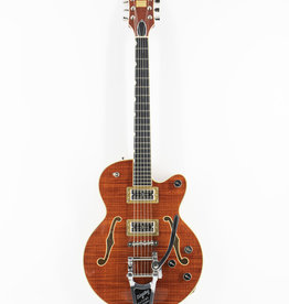 Gretsch Gretsch G6659TFM Players Edition Broadkaster® Jr. Center Block Single-Cut with String-Thru Bigsby® and Flame Maple, Ebony Fingerboard, Bourbon Stain