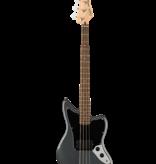 Squier Squier Affinity Series Jaguar Bass H, Laurel Fingerboard, Black Pickguard, Charcoal Frost Metallic