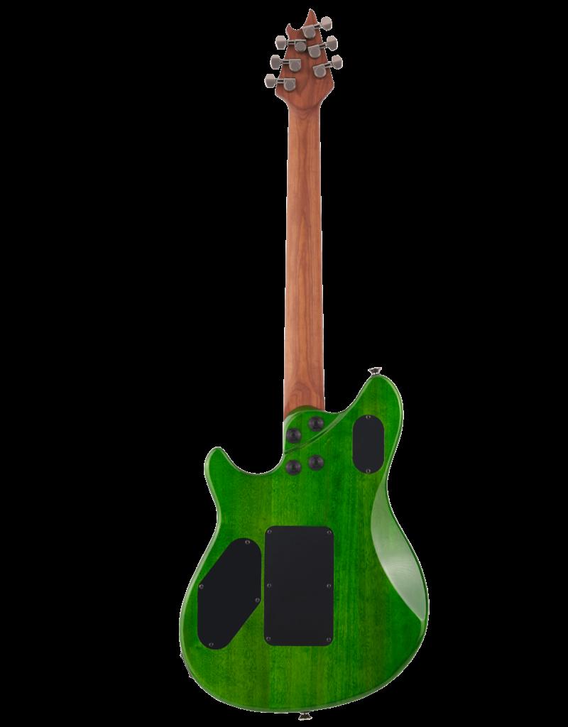 EVH EVH Wolfgang Standard QM, Baked Maple Fingerboard, Transparent Green