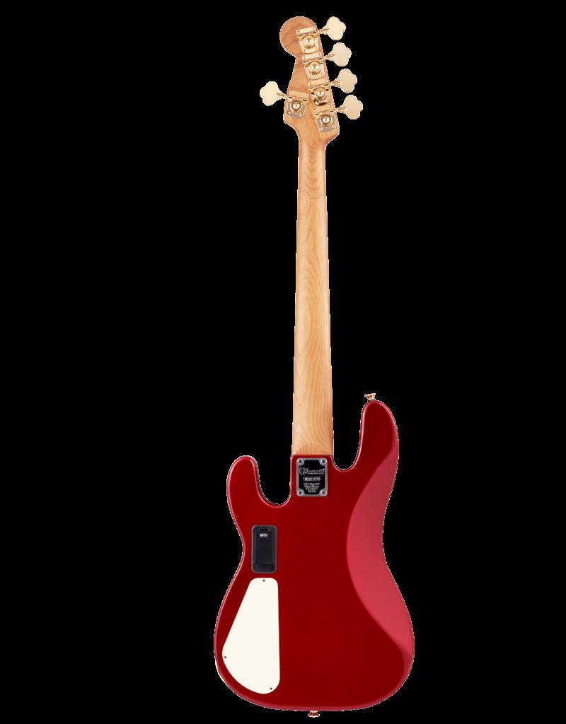 Charvel Charvel Pro-Mod San Dimas Bass JJ V, Caramelized Maple Fingerboard, Candy Apple Red