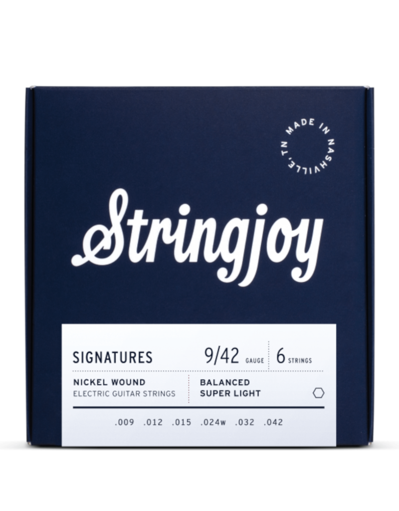 Stringjoy Stringjoy Signatures   Balanced Super Light Gauge (9-42) Nickel Wound Electric Guitar Strings