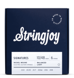 Stringjoy Stringjoy Signatures   Balanced Light Gauge (10-48) Nickel Wound Electric Guitar Strings