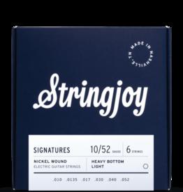 Stringjoy Stringjoy Signatures   Heavy Bottom Light Gauge (10-52) Nickel Wound Electric Guitar Strings