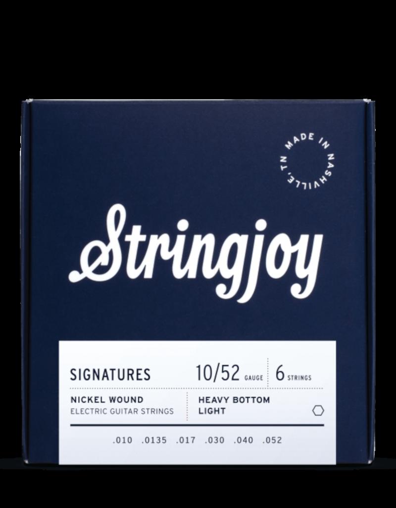 Stringjoy Stringjoy Signatures | Heavy Bottom Light Gauge (10-52) Nickel Wound Electric Guitar Strings