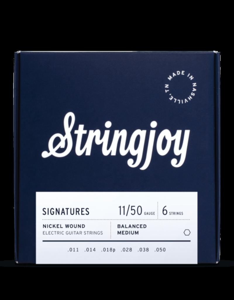 Stringjoy Stringjoy Signatures   Balanced Medium Gauge (11-50) Nickel Wound Electric Guitar Strings