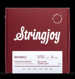Stringjoy Stringjoy Naturals | Super Light Gauge (11-52) Phosphor Bronze Acoustic Guitar Strings