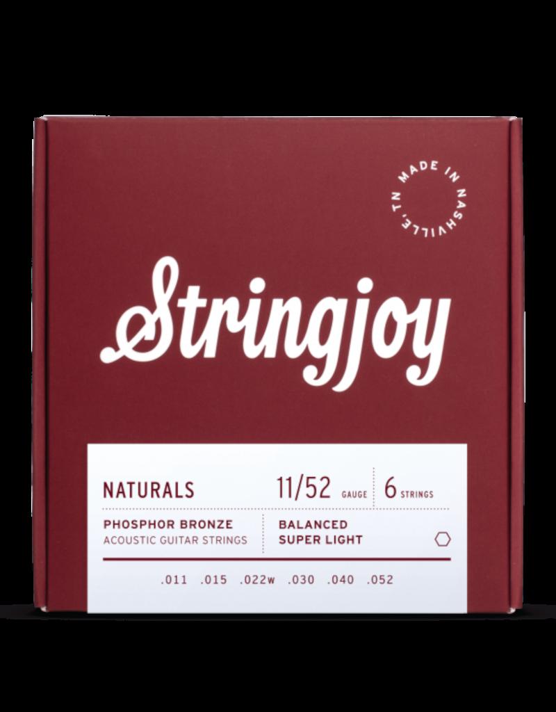 Stringjoy Stringjoy Naturals   Super Light Gauge (11-52) Phosphor Bronze Acoustic Guitar Strings
