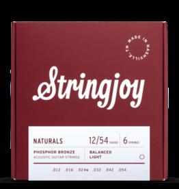 Stringjoy Stringjoy Naturals | Light Gauge (12-54) Phosphor Bronze Acoustic Guitar Strings